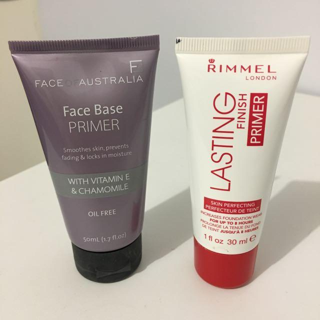 Rimmel & Face Of Australia Primers