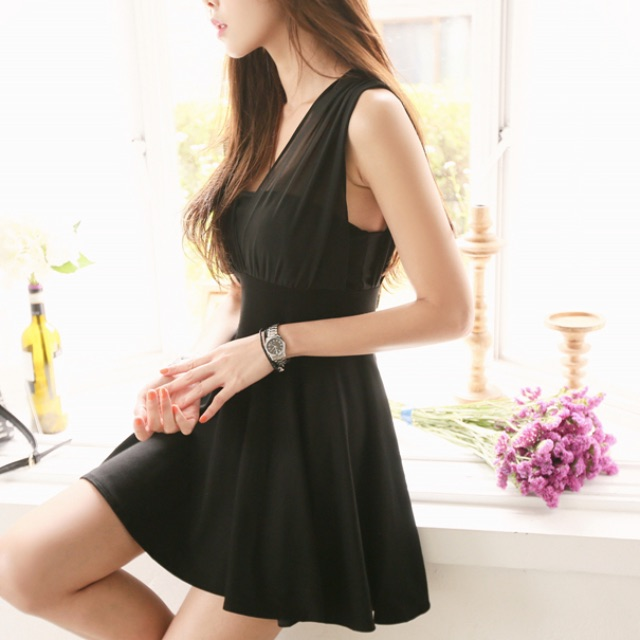 eaa623d4884 Sexy Korean Dress - Chiffon Tunic, Women's Fashion, Clothes, Dresses &  Skirts on Carousell