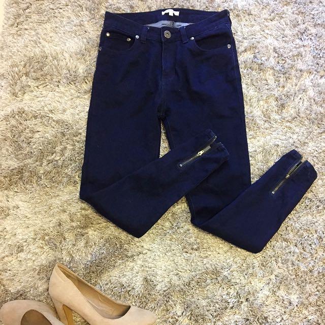Size 8 Navy Blue Jeans