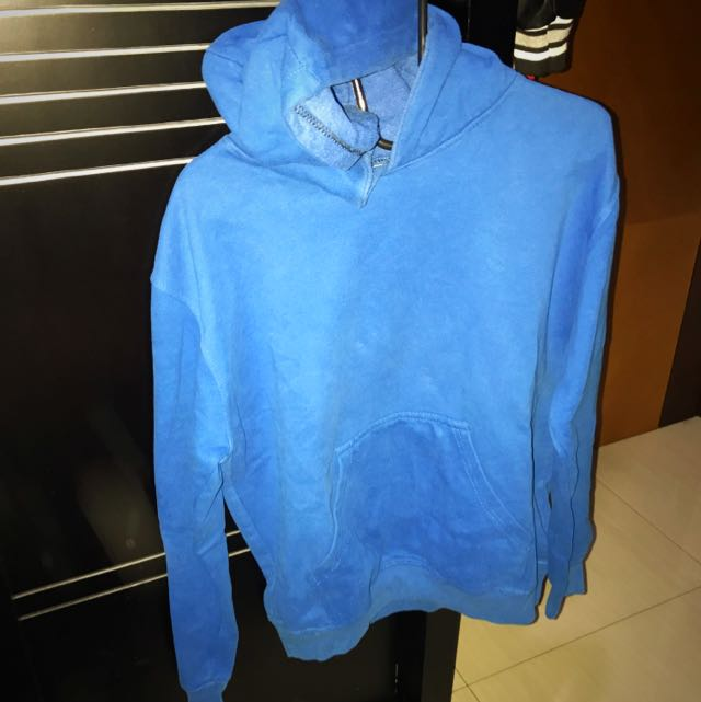 Sweater Hoodie Biru Laut Polos