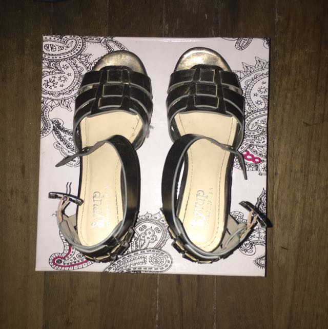 Syrup Gold Platform Sandals