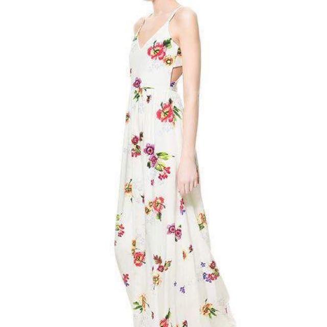 White Zara Maxi