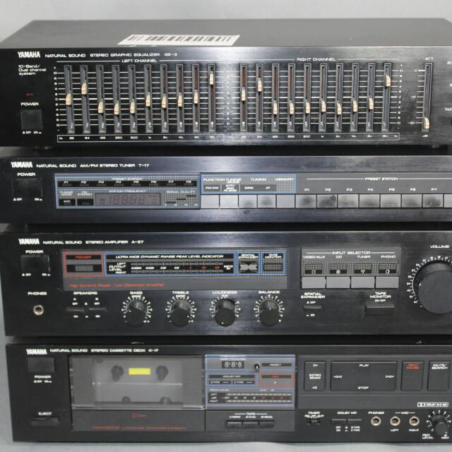Yamaha Natural Sound Ge-3 Equalizer,T-17 Tuner, A-27 Amp,K-17 Cassette Deck U 112