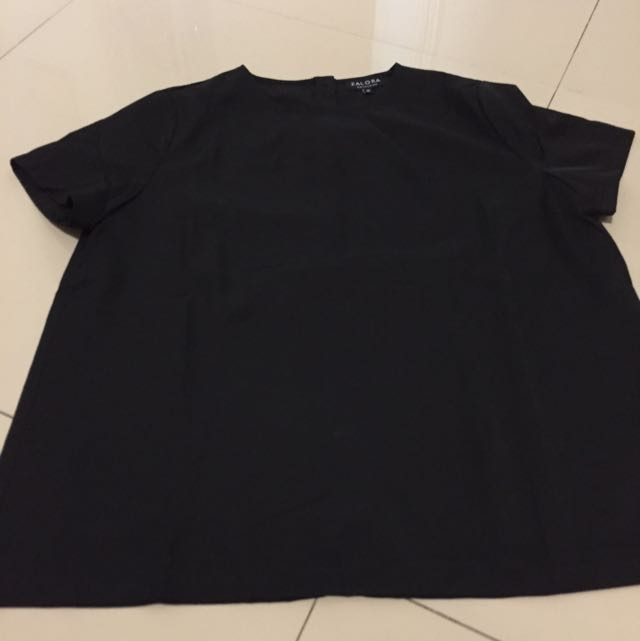 zalora black shirt