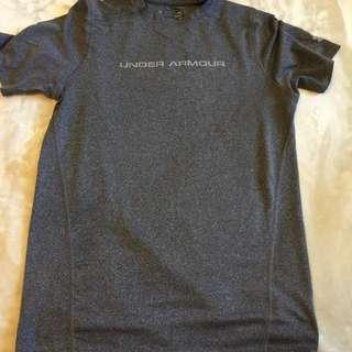 grey under armour shirt!