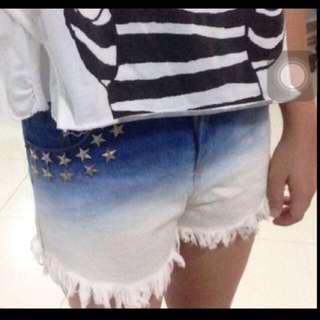 Ombre High Waist Shorts
