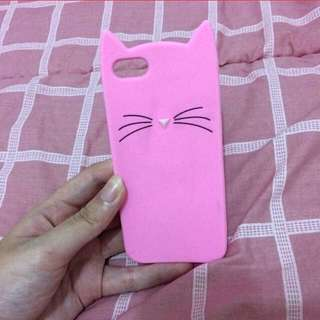 Casing Iphone 5 Kitty Cat Pink