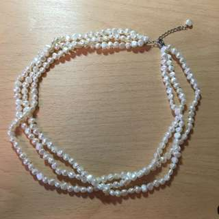 REAL FRESHWATER PEARL LAYERED NECKLACE