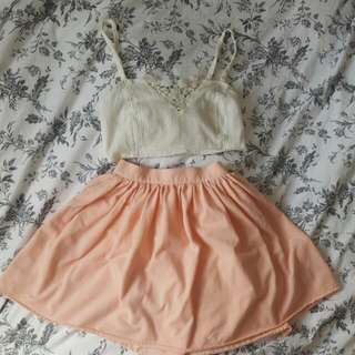 XS Salmon Pink Skirt From AA