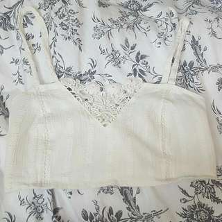 White Bralette Styled Top