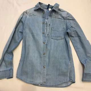 H&M Acid Washed Denim Shirt