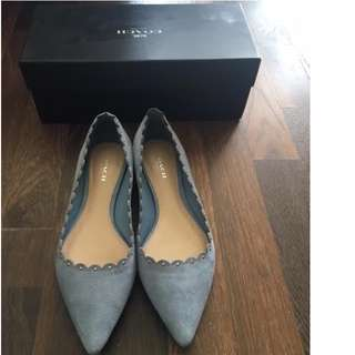 """COACH - Pointed Toe Flat Suede """"Jill"""" Shoes - Size 37"""