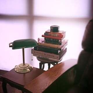 """Banker Lamp - 14"""" Like New"""