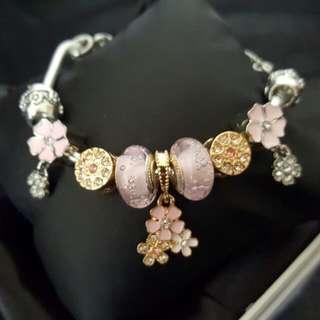 Charm Bracelet . Silver Plated