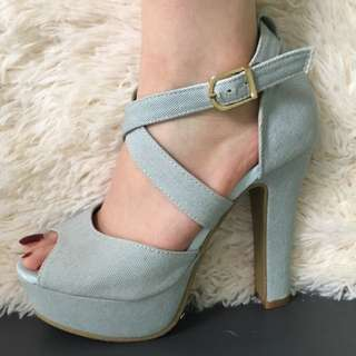 Light Blue High Heels