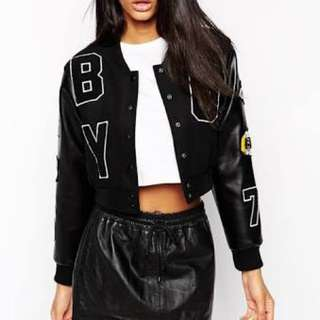 Boy London Crop Badged Bonnet Jacket