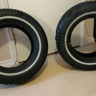 2 UniRoyal Tiger Paw Snow/Ice Tires