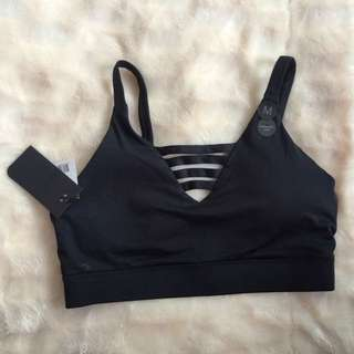 Extend Strappy Front Crop Top (Black)