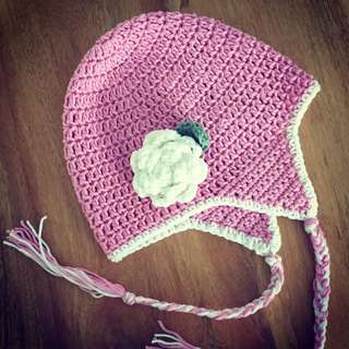 Handmade Crochet Rose Hat
