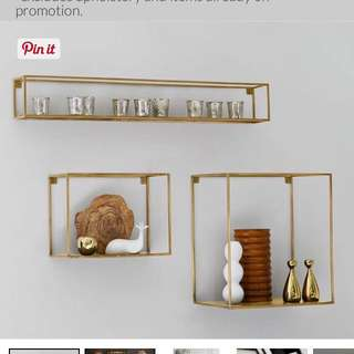 Display Shelf (Brass) (BNIB, 2 Avail)