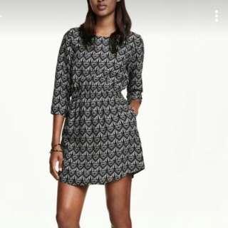 H&M Black/White Dress