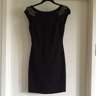 Negotiable: Zara Medium Black Bodycon Dress with Shoulder Detail