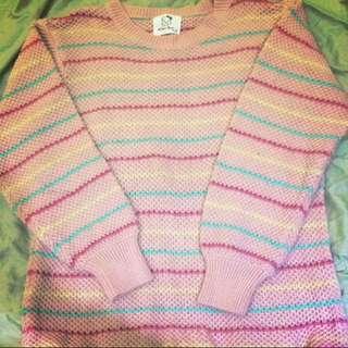 韓版條紋毛衣