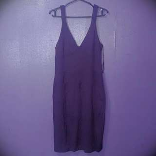 MNG Suit Dress / PURPLE / SMALL