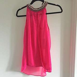 Reduced: New Fuchsia Zara Top Size M