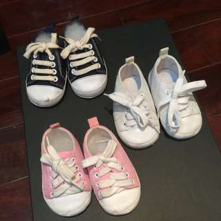 新生兒 嬰兒鞋 3雙 ㄧ組