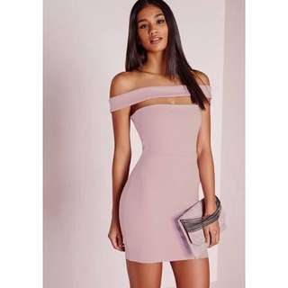 🎀 Missguided Off Shoulder Bandage Bodycon Dress Size 6