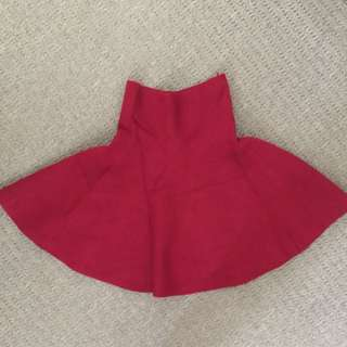 Red Wine Circle Skirt Free Size