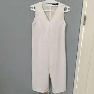White 7/8 Jumpsuit