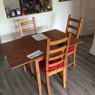 Bjursta Dining Table And Chairs