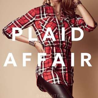 Dynamite Plaid Dress - Black & White