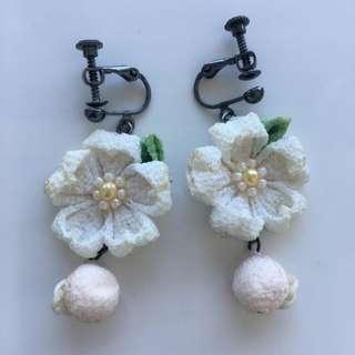 Clip-on Flower Earring