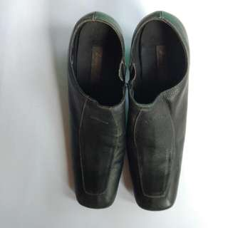 Lavella Real Leather Black Boots