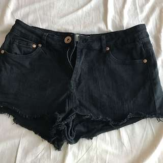 Black Low Rise Shorts