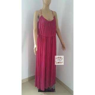Mango Pink Maxi Dress