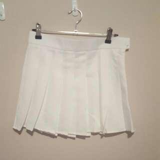White Tennis Skirt Size Small