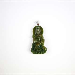 天然海藻玉觀音墜、飾