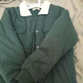 ❤️羔羊領子軍綠外套❤️