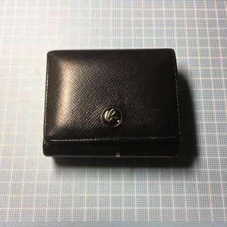 agnes b agnis b purse/ wallet 十字紋牛皮銀包