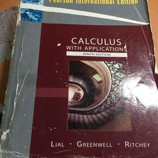 Calculus With Applications 微積分