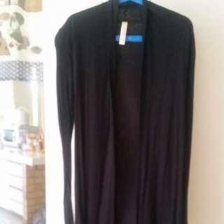 Cotton On Black Long Cardigan Size 6