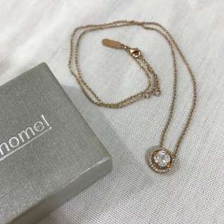 🚚 Chomel Rose Gold Plated Necklace