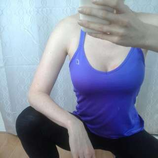 Lorna Jane Purple Singlet Work Out Tee With Racer Back Fit 6, 8, 10