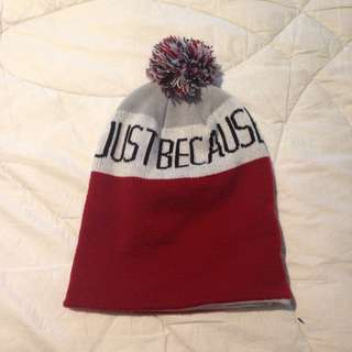"""""""just because"""" beanie"""