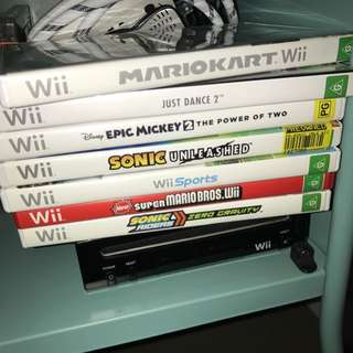 Wii Console Bundle With Games