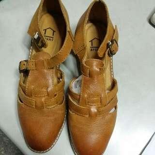 真皮復古牛津鞋 尺寸:36